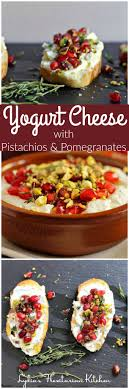 light appetizers for parties yogurt cheese with pistachios and pomegranate recipe finger food