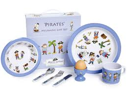 martin gulliver designs pirates gift set melamine multi colour