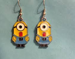minion earrings etsy