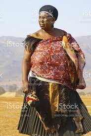 swazi married woman in traditional attire stock photo 458091519