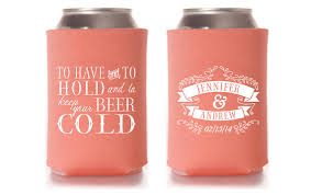wedding can koozies custom wedding can cooler wedding favor to and to hold