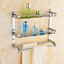 Stainless Steel Bathroom Shelving Free Shippin 304 Stainless Steel Bathroom Shelf Toilet Rack Towel