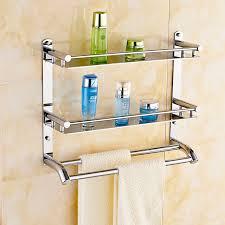 Hanging Bathroom Shelves Free Shippin 304 Stainless Steel Bathroom Shelf Toilet Rack Towel