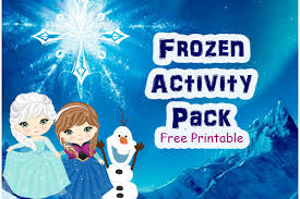 disney frozen inspired free printable activity pack