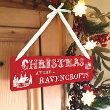 personalised christmas hanging sign hanging signs tissue paper