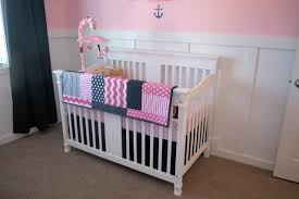 navy and pink nursery bedding thenurseries