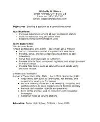 Serving Resume Template Server Resume Template Unforgettable Server Resume Examples To