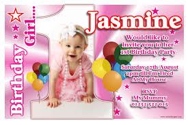 Photo Card Invites Birthday Invitations 1st Birthday Invitations Free Template