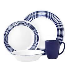 corelle black friday deals 2017 boutique brushed 16 pc dinnerware set cobalt corelle