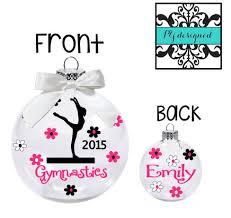 personalized gymnastics ornament christmas ornament for gymnast