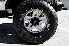 jeep wheels and tires fuel full blown 2pc cast center wheels gloss black with gloss