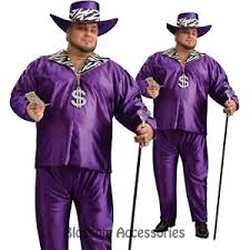 Pimp Halloween Costume C997 Mens Big Daddy Purple Pimp Halloween Fancy Dress