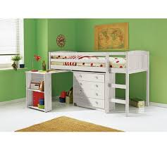 Argos Bunk Beds With Desk Buy Kelsey Mid Sleeper Bed Frame With Desk White At Argos Co Uk