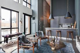 loft design gorgeous loft design in dark tones in brooklyn
