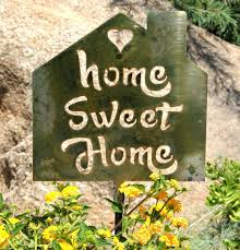 home sweet home yard decor metal yard decorations for home