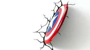 3d deco superhero wall lights captain america 3d wall light in addition to captain shield deco