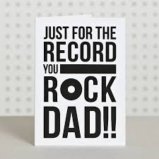 just for the record you rock dad also dad birthday card printable