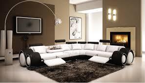 salon haut de gamme canapé angle en cuir vachette blanc