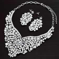rhinestone necklace set images Rhinestone bride jewelry bride jewelry sets crystal bride jewelry brid jpg