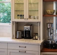 kitchen appliance storage cabinet 40 appliance storage ideas for smaller kitchens