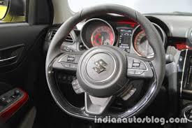 2018 suzuki swift sport sports steering wheel at iaa 2017 indian