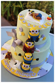 minion baby shower minion themed baby shower cake by hot s cakes cakesdecor