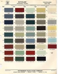 vw original paint color chart cars i love pinterest paint