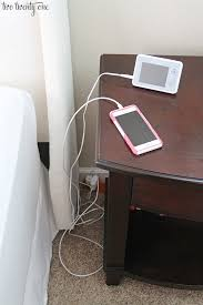 How To Organize Wires On Desk How To Hide Bedside Cords