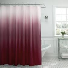 Pink And Grey Shower Curtain by Amazon Com Ombre Waffle Weave Shower Curtain With Matching Metal