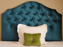 peacock royal blue velvet tufted upholstered headboard katie u0027s