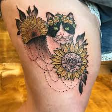 80 bright sunflower tattoos designs meanings for