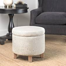 ottoman simple round storage ottoman homepop cole classics