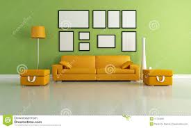 green living room royalty free stock photography image green and orange living room stock photo