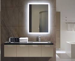 lighted mirrors for bathroom dimmable backlit mirror rectangle 20 x 28 backlit bathroom mirror