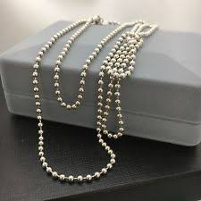 silver beads necklace tiffany images Tiffany bead necklace ebay jpg