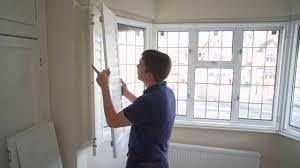 how to install a 3 section angled bay window shutter youtube
