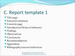 writing reports and project documents