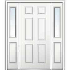 mmi door 64 in x 80 in left hand 6 panel classic primed steel