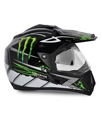 monster motocross helmets vega helmet off road graphic monster black base with green