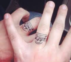 finger designs 39 tattoos wedding band