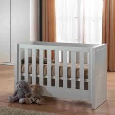 chambre bébé pas chere lara lit bébé 60 x 120 cm laqué blanc achat vente lit complet