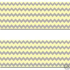 yellow grey gray chevron wallpaper border wall decal baby boy