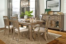 calm dining table decors for 4 with vintage dresser also grey