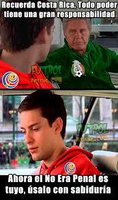 Costa Rica Meme - memes del m礬xico vs costa rica futbol sapiens