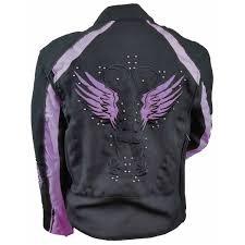 women s motocross jersey women u0027s reflective purple wings motorcycle jacket jafrum