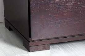 low profile contemporary one drawer nightstand in dark brown