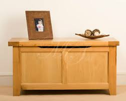 msl solid wood chunky oak blanket box chest storage trunk ebay