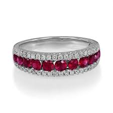 ruby eternity ring ruby 0 97ct and 0 32 ct diamond ring in 18ct gold lu17
