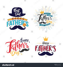 set happy fathers day vintage labels stock vector 654241864