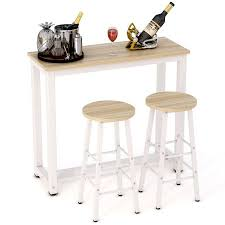 Bar Stool Table Sets Tribesigns 3 Piece Pub Table Set Counter Height Dining Table Set